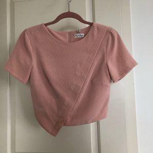 Miss Selfridge Crop Top in Pink